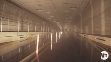 The Brooklyn Battery Tunnel is 9,117 feet, making it the longest continuous underwater vehicular tunnel in North America.