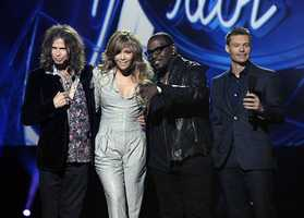 From left to right, singer Steven Tyler, singer Jennifer Lopez, musician Randy Jackson, and television personality Ryan Seacrest at the American Idol Season Ten judge announcement in Inglewood, Calif. on Wednesday, Sept. 22, 2010.