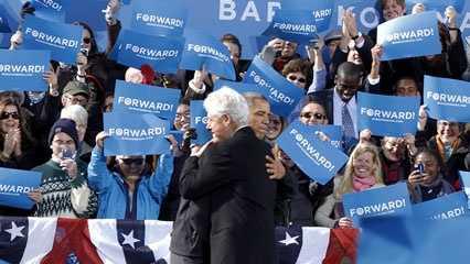 Clinton and Obama in Concord