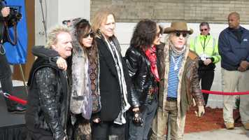 Boston's bad boys of rock Aerosmith rocked a free show on the streets of Boston on Monday. Check out some pictures from the show.