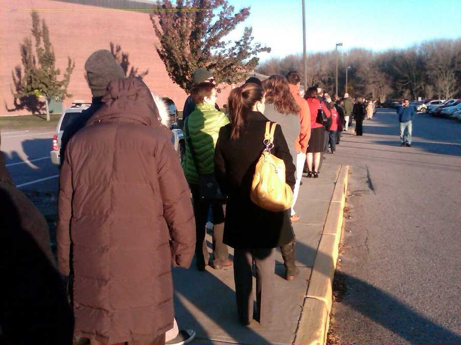 Lines were long in Mansfield.