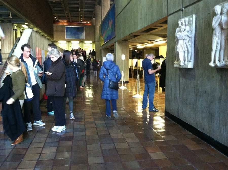 Over an hour to vote at Boston City Hall