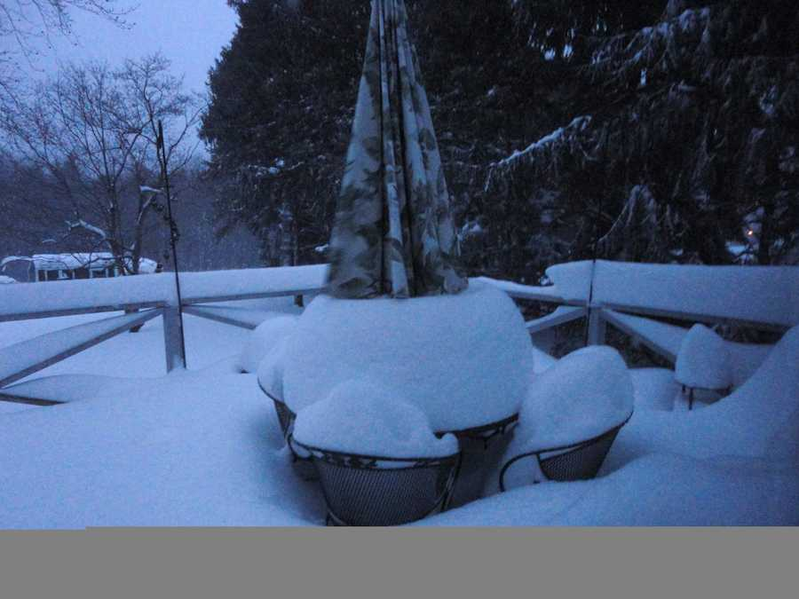 Southbridge got 8.0 inches of snow according to the National Weather Service.(All photos are of the location referenced, but for illustrative purposes and not necessarily from the Nov. 7 storm)