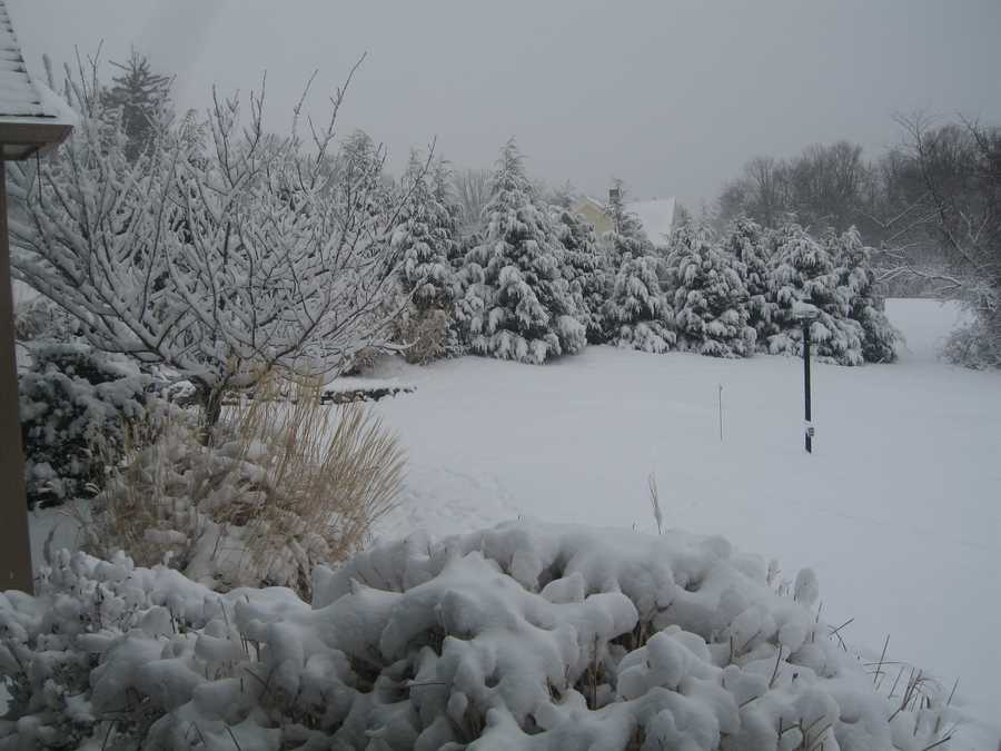 Topsfield got 3.0 inches of snow according to the National Weather Service.(All photos are of the location referenced, but for illustrative purposes and not necessarily from the Nov. 7 storm)