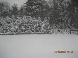 Foxborough got 5.6 inches of snow according to the National Weather Service.(All photos are of the location referenced, but for illustrative purposes and not necessarily from the Nov. 7 storm)