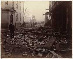 The Old South Meeting House was saved from the inferno.