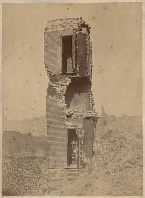 The ruins of the Kimball Co. on High Street