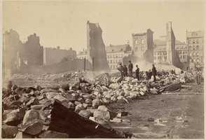 The remains of Donahoe's block, Franklin Street