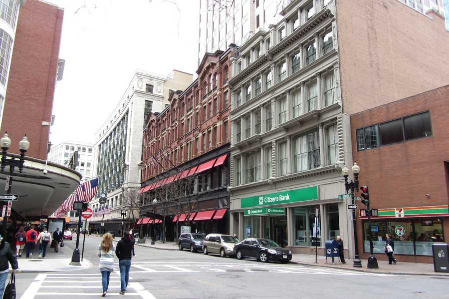 Summer Street today, near the corner of Arch Street