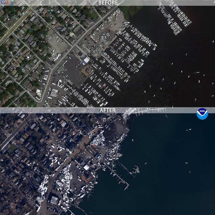 CLICK HERE to view a map of the regions impacted by the hurricane, and click on an icon to view a thumbnail or high-definition image of a specific area.Images are now available for some of the Northeast's hardest-hit areas, including  Atlantic City, Seaside Heights, N.J., Ocean City, Md., Long Island and parts of Delaware.