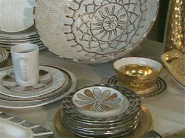 Wainwright's dinnerware and gift items are sold by local retailers.