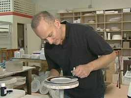 Wainwright designs everything in his Main Street studio.