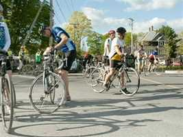Steffen Root organized a weekly road ride, that now includes 70 participants.