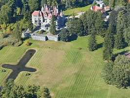 The castle has 40 rooms on 65 sprawling acres.