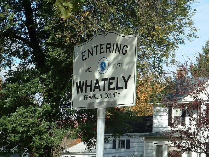 #74. (tie) - Whately had an SIR of 122.9 in 2004-2008 according to data from the Massachusetts Department of Public Health.