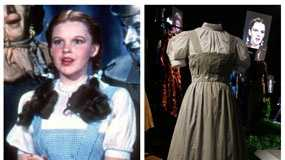 "On Sunday, Nov. 11, 2012, auction house Julien's Auctions said the gingham dress Judy Garland wore in ""The Wizard of Oz"" fetched $480,000."