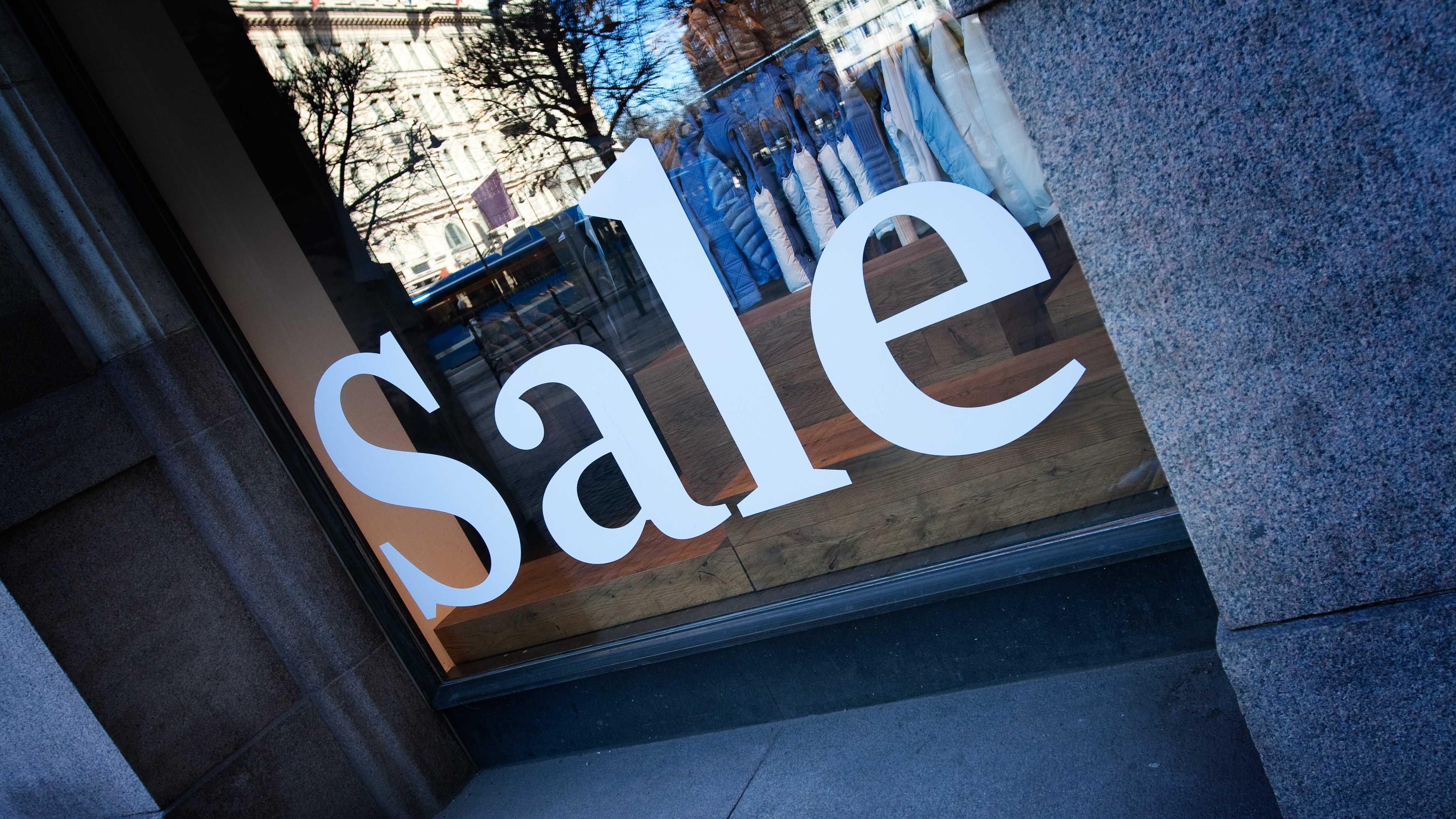 Sale on Store Window