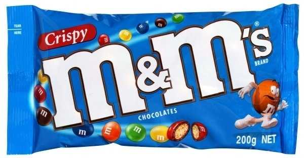 Crispy M&M's that stopped production in 2005.
