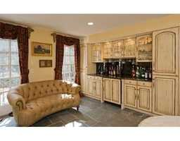 The home has a wet bar.