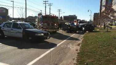 Portland 10 injured crash