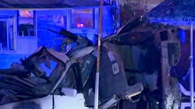 Drag racing may be to blame for a serious crash in Lawrence Saturday night.