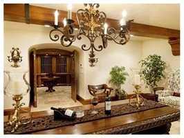 A private wine cellar.