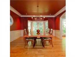 An elegant dining area.