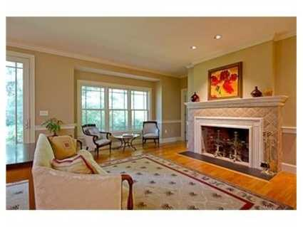 The home has three fireplaces.