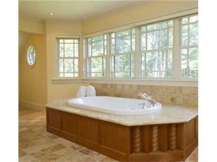 A soaking tub.