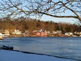 #46. - Amesbury showed a year-to-year increase of 20% according to data provided by the Massachusetts Association of REALTORS® and MLS Property Information Network, Inc.