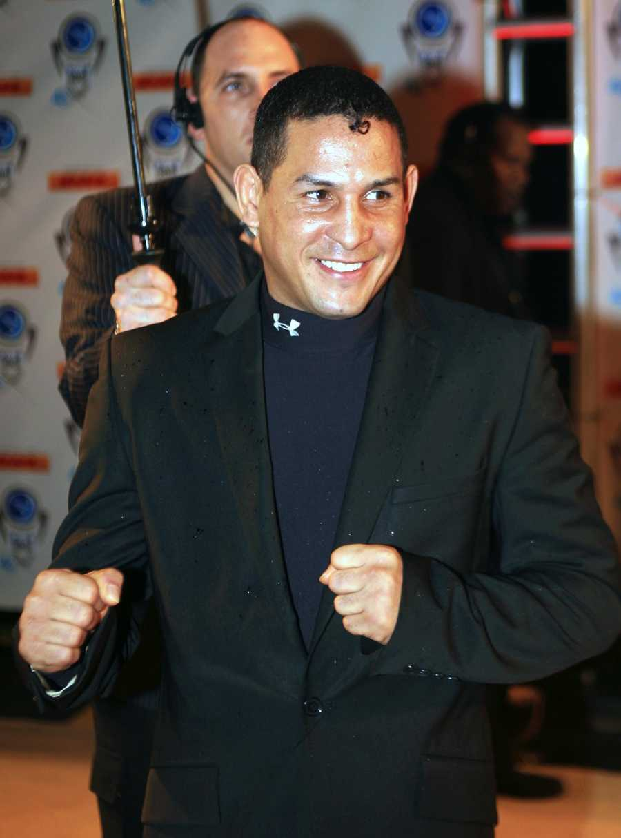 Hector Camacho won super lightweight, lightweight and junior welterweight world titles in the 1980s and fought high-profile bouts against Felix Trinidad, Julio Cesar Chavez and Sugar Ray Leonard while compiling a career record of 79-6-3. He knocked out Leonard in 1997, ending the former champ's final comeback attempt. (May 24, 1962 - November 24, 2012)