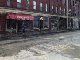 Businesses destroyed in the building include Pizza Chef and the Sentinel & Enterprise's Leominster bureau