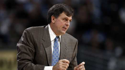 FILE - In this Dec. 10, 2008 file photo, Minnesota Timberwolves head coach Kevin McHale directs his team against the Denver Nuggets in the fourth quarter of an NBA basketball game in Denver. McHale is now the head coach of the Houston Rockets.