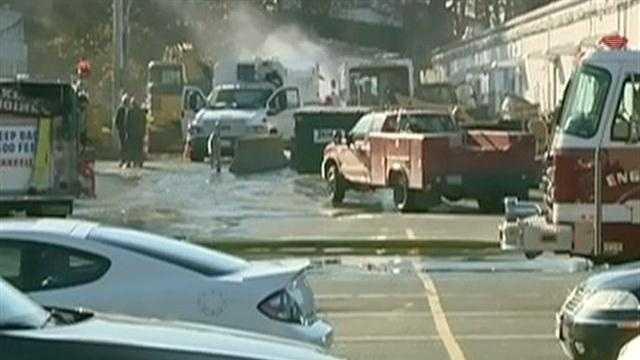 Gas leak prompts evacuations on North Shore