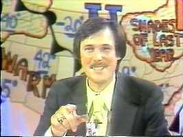 Meteorologist Dick Albert in the 1970s