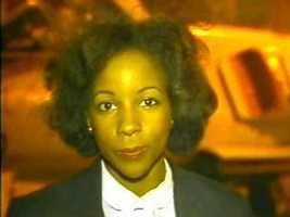 Reporter Pam Cross, 1981