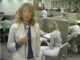 Reporter Susan Wornick in the 1980s