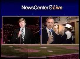 Mike Lynch and Mike Dowling covering the Red Sox in 1987.