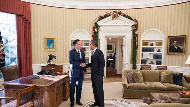 Obama with Romney WH