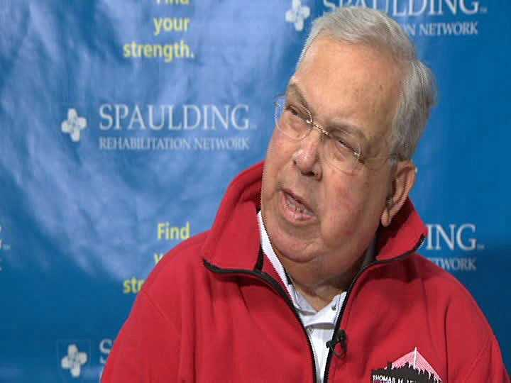 Menino gives his first television interview at Brigham & Women's hospital on Nov. 29, 2012. Menino was hospitalized for eight weeks after cutting short an anniversary trip to Italy with a virus infection and blood clot.