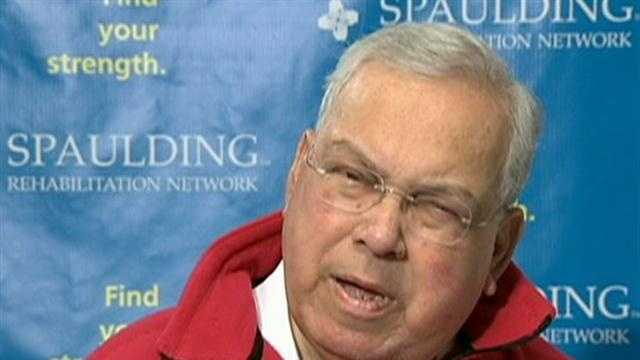 Boston Mayor Thomas Menino says he has been humbled by the response to his month-long hospitalization, but did not say whether his illnesses have caused him to reconsider running for an unprecedented sixth term next year.