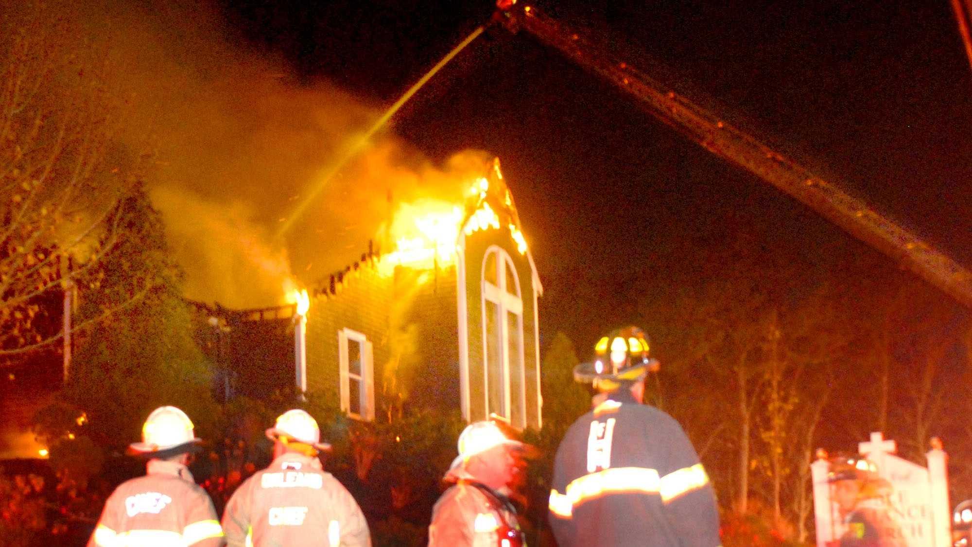 brewster church fire