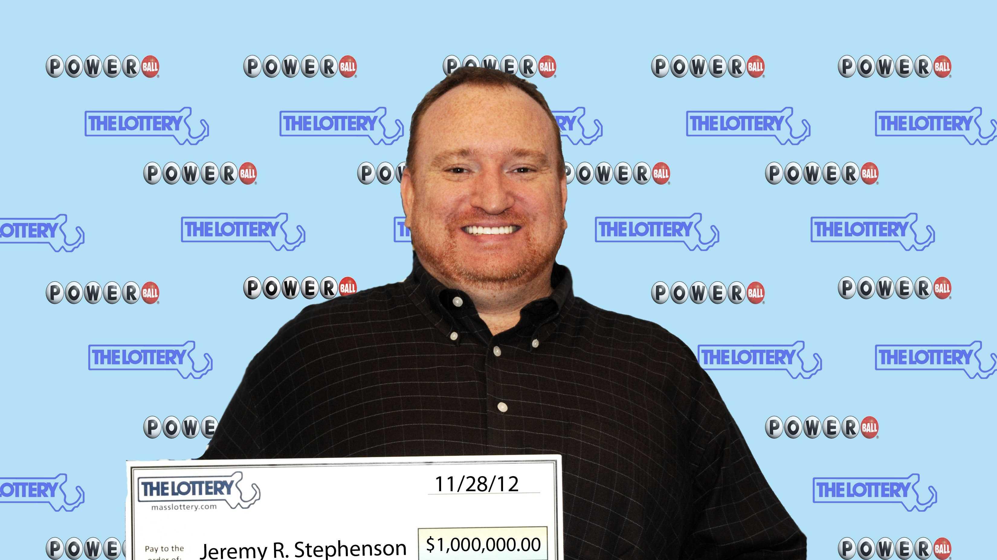 Jeremy Stephenson Lottery Winner