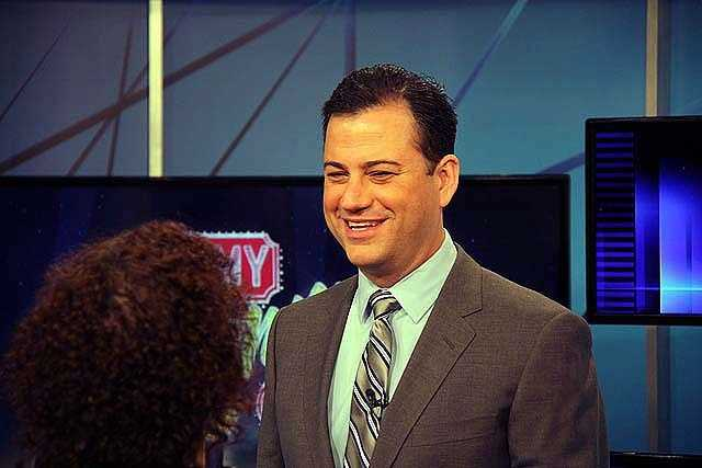 ABC late-night host Jimmy Kimmel visited WCVB to talk about his new time slot on Channel 5.