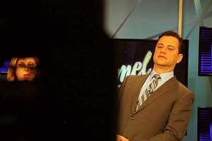 Kimmel mugs for the camera during the shoot.