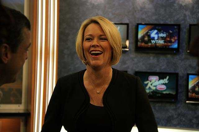 NewsCenter 5 anchor Heather Unruh shares a laugh as she gets ready for the promo shoot.