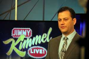 """Kimmel hosted the White House Correspondents' Dinner in 2012. In closing his remarks, Kimmel said, """"I also want to thank Mr. Mills, my 10th grade high school history teacher, who said I'd never amount to anything if I kept screwing around in class. Mr. Mills, I'm about to high-five the President of the United States."""""""