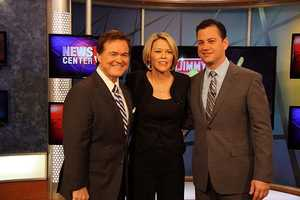 Ed Harding, Heather Unruh and Jimmy Kimmel