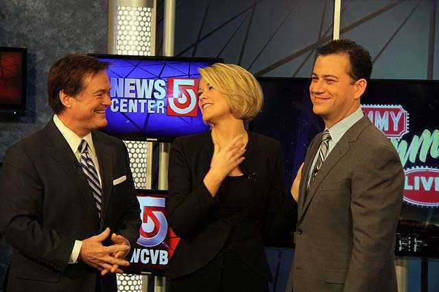 Ed, Heather and Jimmy share a laugh during the shoot.