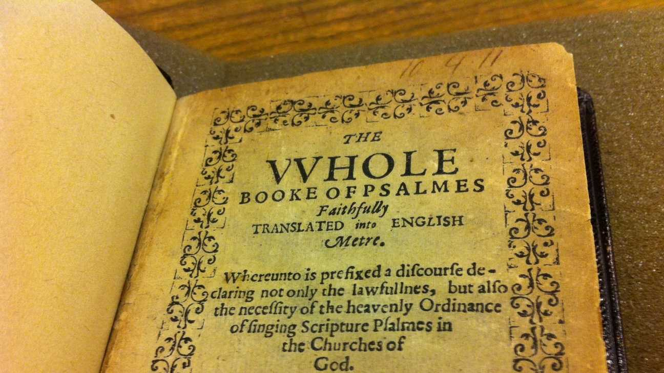 Bay Psalm Book Boston Public Library